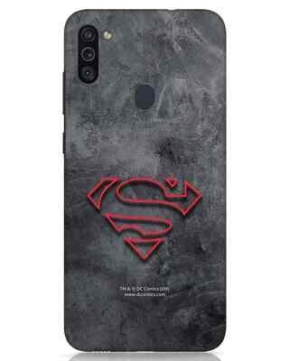Shop Superman Logo Line Samsung Galaxy M11 Mobile Cover-Front