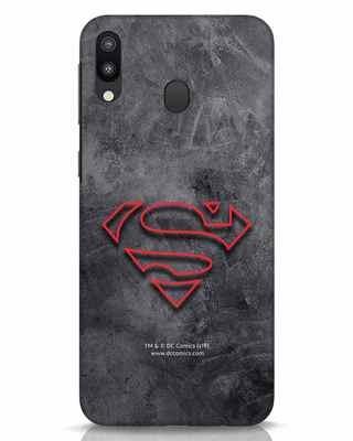 Shop Superman Logo Line Samsung Galaxy M20 Mobile Cover-Front