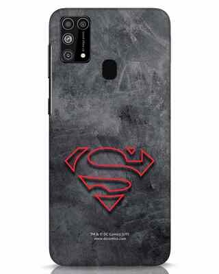 Shop Superman Logo Line Samsung Galaxy M31 Mobile Cover-Front