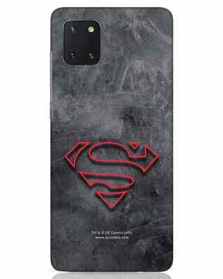 Shop Superman Logo Line Samsung Galaxy Note 10 Lite Mobile Cover-Front