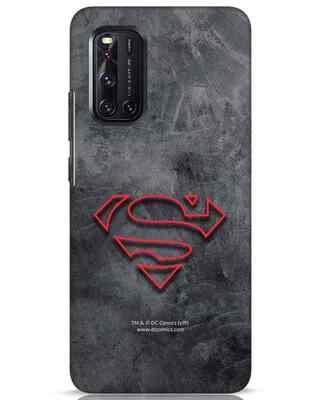 Shop Superman Logo Line Vivo V19 Mobile Cover-Front