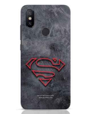 Shop Superman Logo Line Xiaomi Mi A2 Mobile Cover-Front