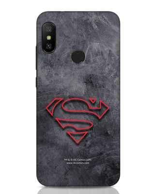Shop Superman Logo Line Xiaomi Redmi Note 6 Pro Mobile Cover-Front