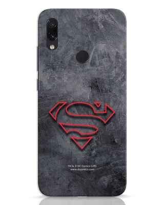 Shop Superman Logo Line Xiaomi Redmi Note 7 Mobile Cover-Front