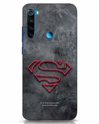 Shop Superman Logo Line Xiaomi Redmi Note 8 Mobile Cover-Front