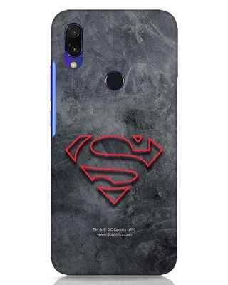 Shop Superman Logo Line Xiaomi Redmi Y3 Mobile Cover-Front