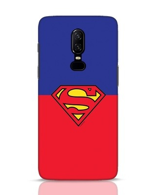 Shop Superman Logo OnePlus 6 Mobile Cover-Front
