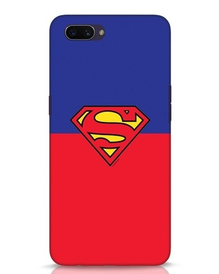 Shop Superman Logo Oppo A3S Mobile Cover-Front
