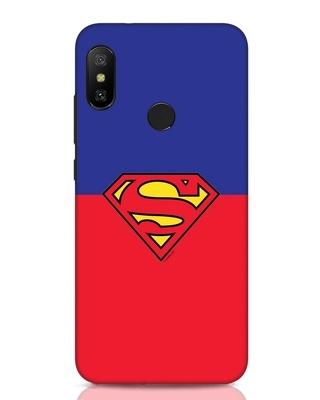 Shop Superman Logo Xiaomi Redmi Note 6 Pro Mobile Cover-Front