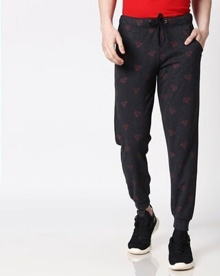 Shop Superman minimal (SML) AOP Jogger Pants-Front