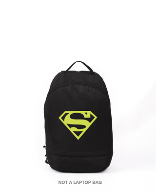 Shop Superman Neon Printed Small Backpack (SML)-Front