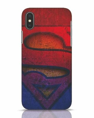 Shop Superman Stone iPhone X Mobile Cover (SL)-Front