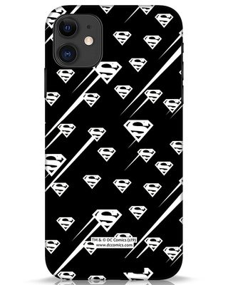 Shop Superman Streaks iPhone 11 Mobile Cover (SL)-Front
