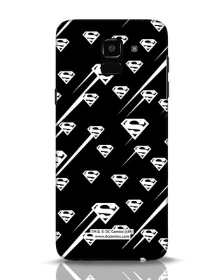 Shop Superman Streaks Samsung Galaxy J6 Mobile Cover (SL)-Front