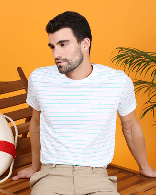 Shop Surfing Stripe Half Sleeve AOP T-Shirt-Front