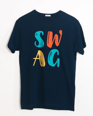 Buy Swag Typography Half Sleeve T-Shirt Online India @ Bewakoof.com