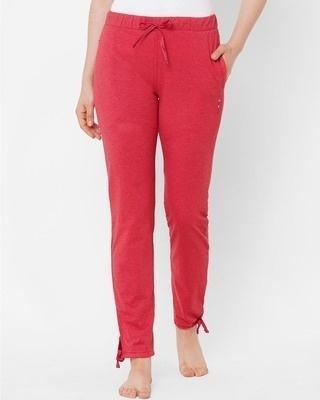 Shop Sweet Dreams Red Solid Pyjama-Front