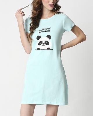 Shop Sweet Dreams Printed Night T-Shirt Dress-Front