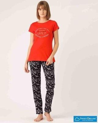 Shop Sweet Dreams Womens Memories Top & Pajama Set-Front