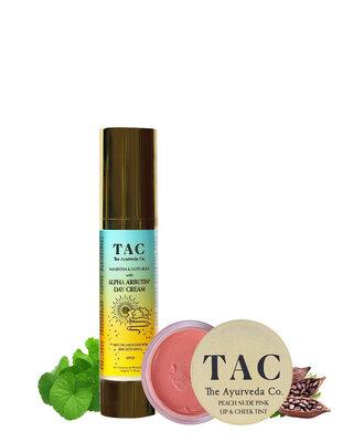 Shop Peach Lip & Cheek Tint and Alpha Arbutin Day Cream SPF 15-Front