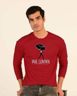 Shop Take Control Key Full Sleeve T-Shirt-Front