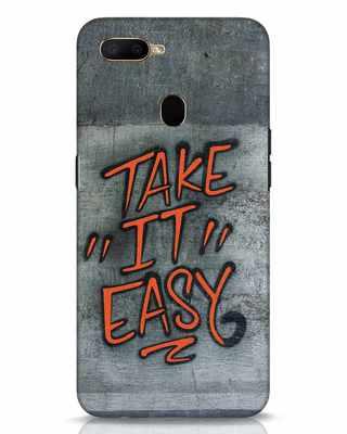 Shop Take It Easy Grafltti Oppo A5s Mobile Cover-Front