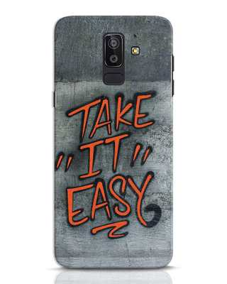 Shop Take It Easy Grafltti Samsung Galaxy J8 Mobile Cover-Front
