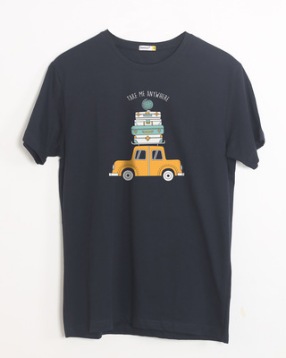 Shop Anywhere Half Sleeve T-Shirt-Front