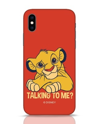 Shop Talking To Me iPhone XS Mobile Cover-Front