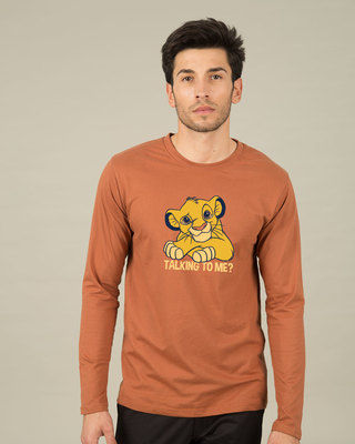 Shop Talking To Simba Full Sleeve T-Shirt (DL)-Front