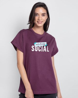 Shop Tape Social Boyfriend T-Shirt-Front