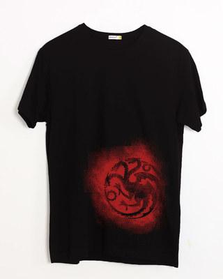Shop Targaryen Grunge Half Sleeve T-Shirt (GTL)-Front