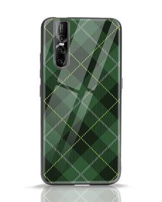 Shop Tartan Print Vivo V15 Pro Glass Mobile Cover-Front