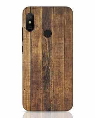 Shop Teak Xiaomi Redmi 6 Pro Mobile Cover-Front