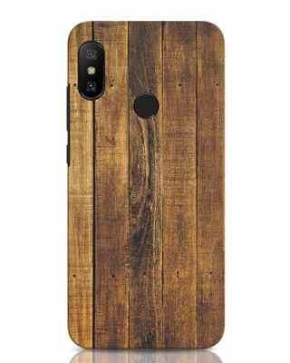 Shop Teak Xiaomi Redmi Note 6 Pro Mobile Cover-Front