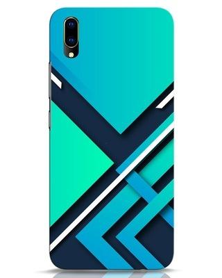 Shop Teal Block Vivo V11 Pro Mobile Cover-Front