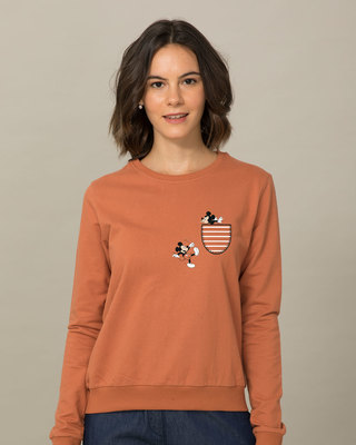 Shop Teasing Mickey (DL) Fleece Sweater-Front