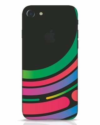 Shop Techno Colors iPhone 7 Logo Cut Mobile Cover-Front