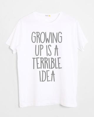 Shop Terrible Idea Half Sleeve T-Shirt-Front