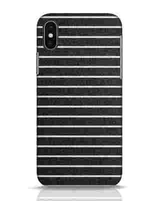 Shop Textured Stripes iPhone X Mobile Cover-Front
