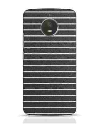 Shop Textured Stripes Moto E4 Plus Mobile Cover-Front