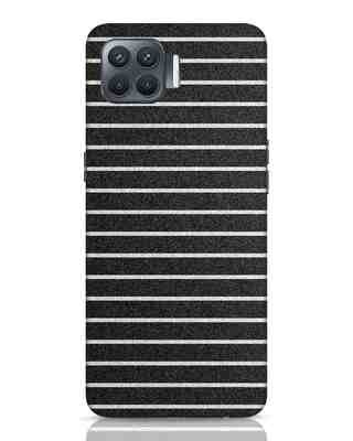 Shop Textured Stripes Oppo F17 Pro Mobile Cover-Front
