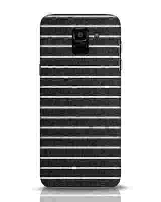 Shop Textured Stripes Samsung Galaxy J6 Mobile Cover-Front