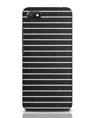 Shop Textured Stripes Xiaomi Redmi 6A Mobile Cover-Front