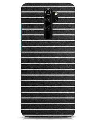 Shop Textured Stripes Xiaomi Redmi Note 8 Pro Mobile Cover-Front