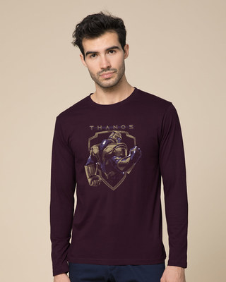 Shop Thanos Full Sleeve T-Shirt (AVEGL)-Front