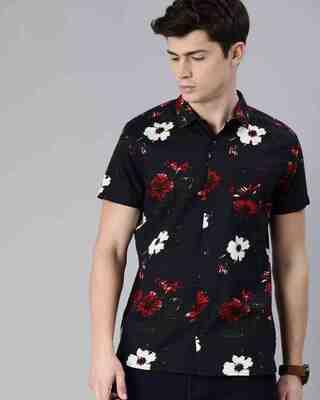 Shop The Bear House Men'S Short Sleeves Printed Shirt-Front
