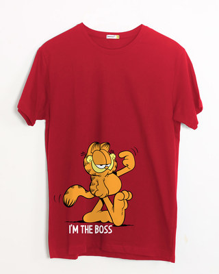 Shop The Boss Cat Half Sleeve T-Shirt (GL)-Front