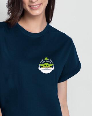 Shop The Child Badge  Boyfriend T-Shirts-Front
