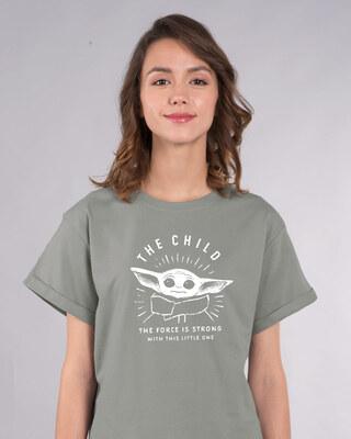Shop The Child Boyfriend T-Shirt (SWL)-Front